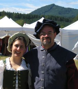 Garet and Wendy in Garb